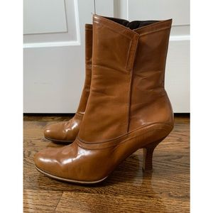 Beautiful caramel colored leather boots